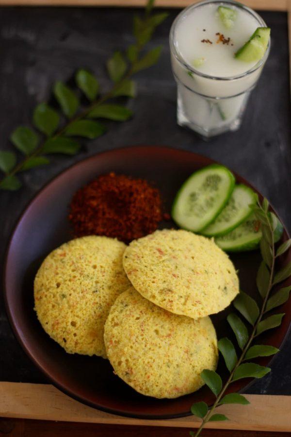 Cucumber Chana Dal Idli