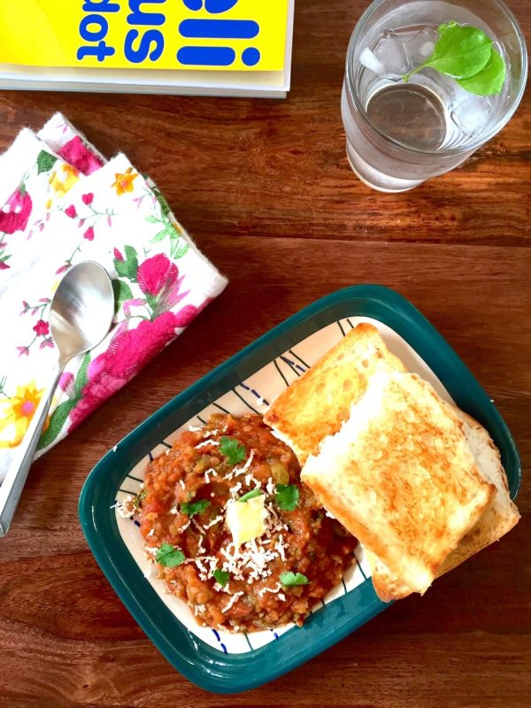 Quick Mumbai Pav Bhaji in under 30 minutes