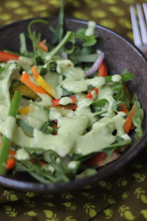 Arugula and Bell Pepper Super Salad