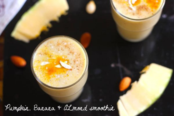 Pumpkin, Banana and Almond Smoothie