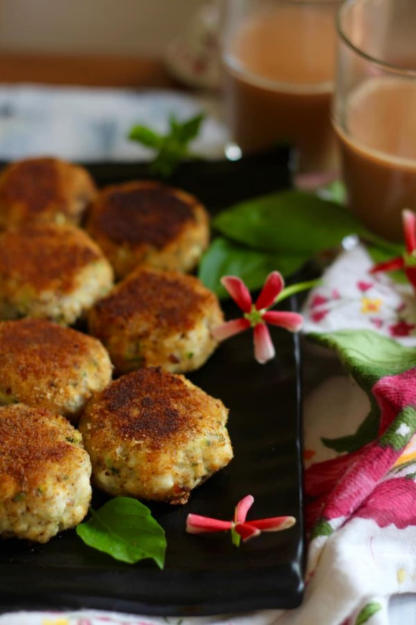 Aloo Paneer Tikki - Potato and Paneer Croquettes