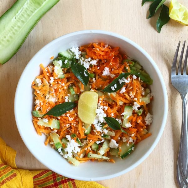 Shredded Carrot Salad with Coconut