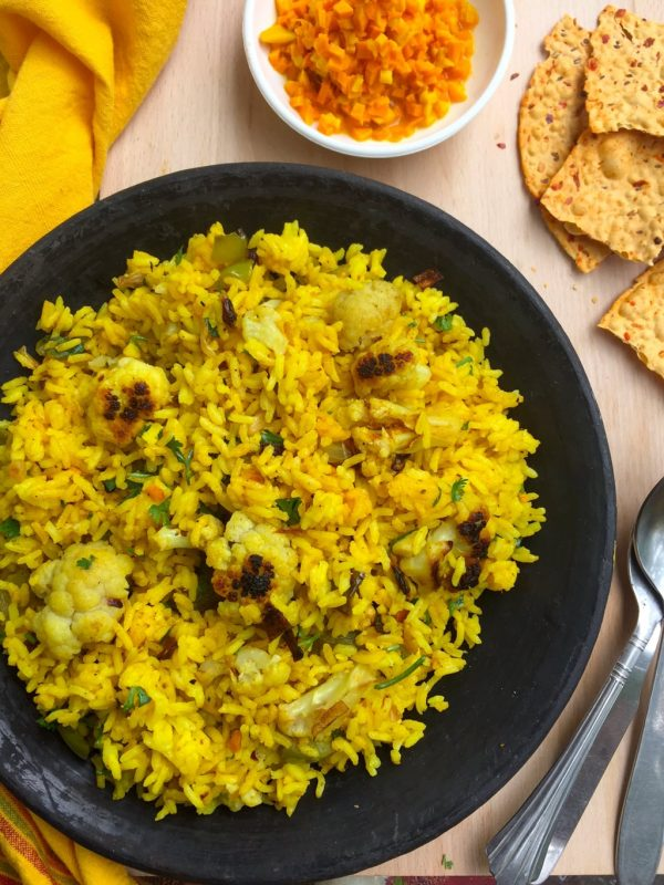 Turmeric Rice with Cauliflower