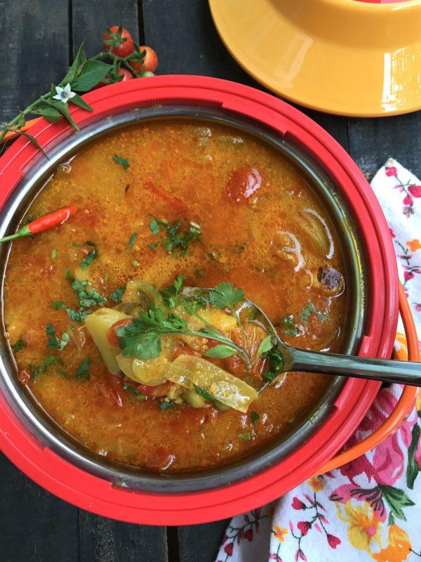 Potato, Onion and Tomato Curry