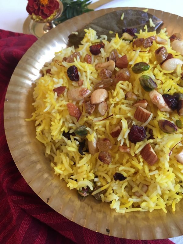 Saffron Rice with Fruits and Nuts