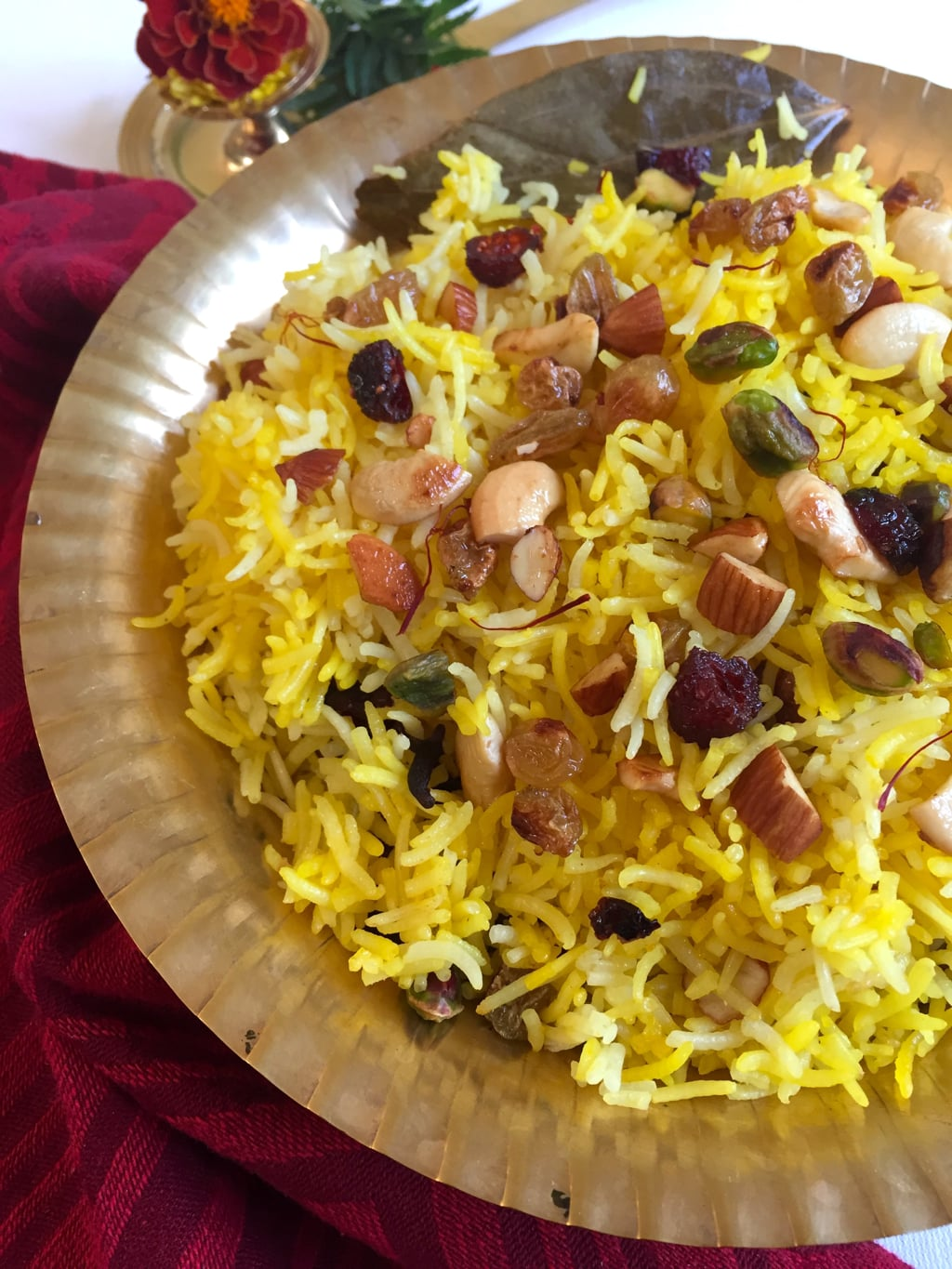 Saffron Rice With Fruits And Nuts Recipe Saffron Trail