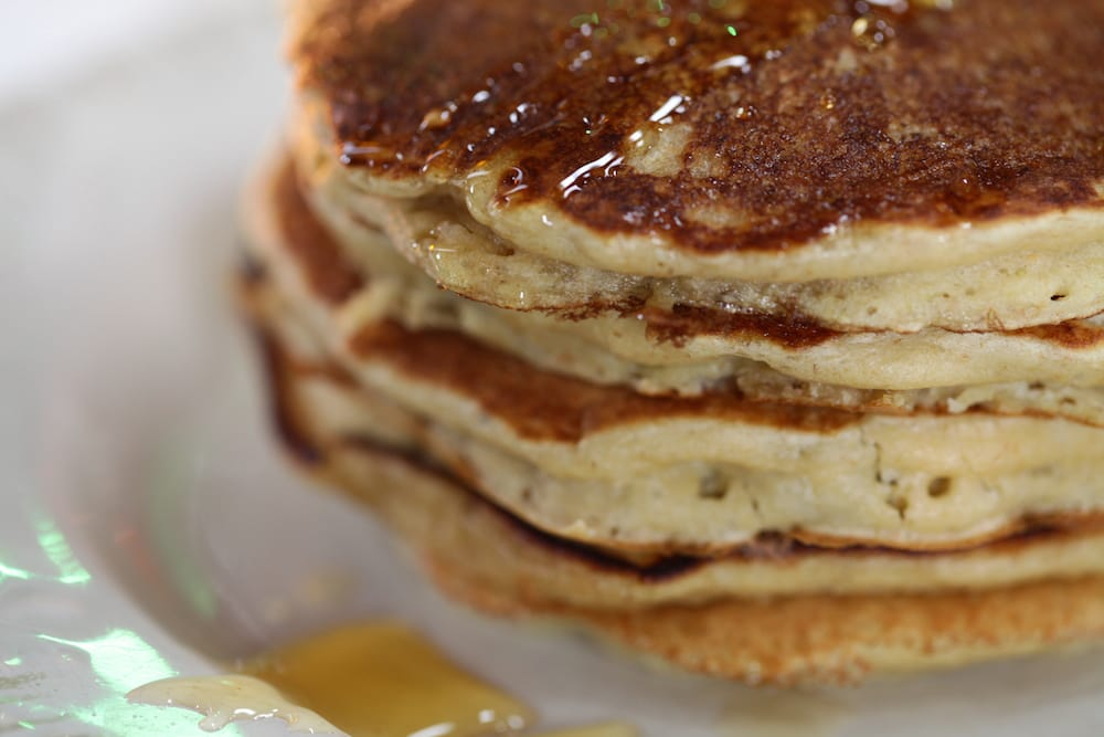 oats banana buttermilk pancakes