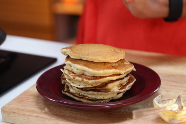 Recipe for Oats Banana Buttermilk Pancakes