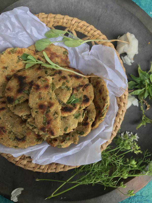 Methi na Dhebra - a Rustic Gluten Free Bread from Gujarat