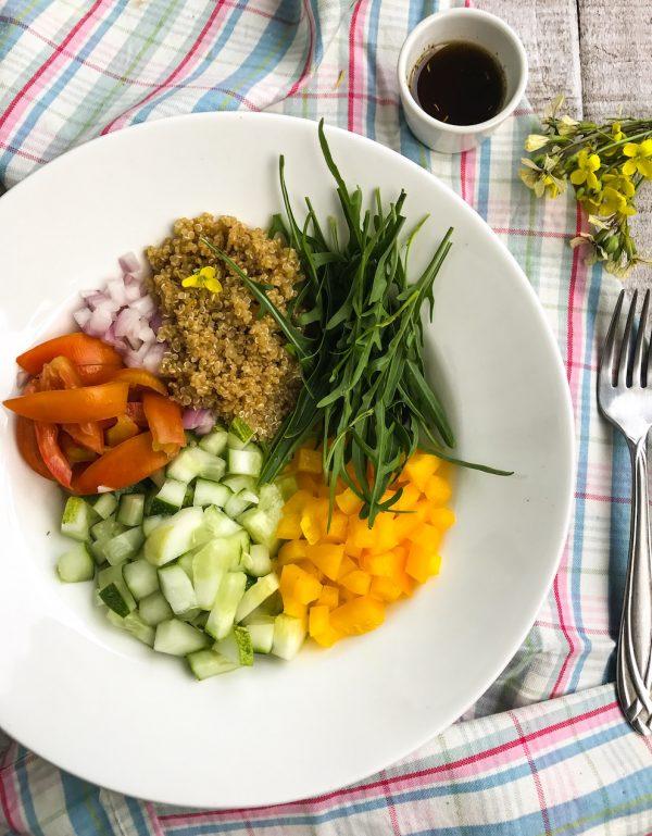 Mediterranean Quinoa Sald