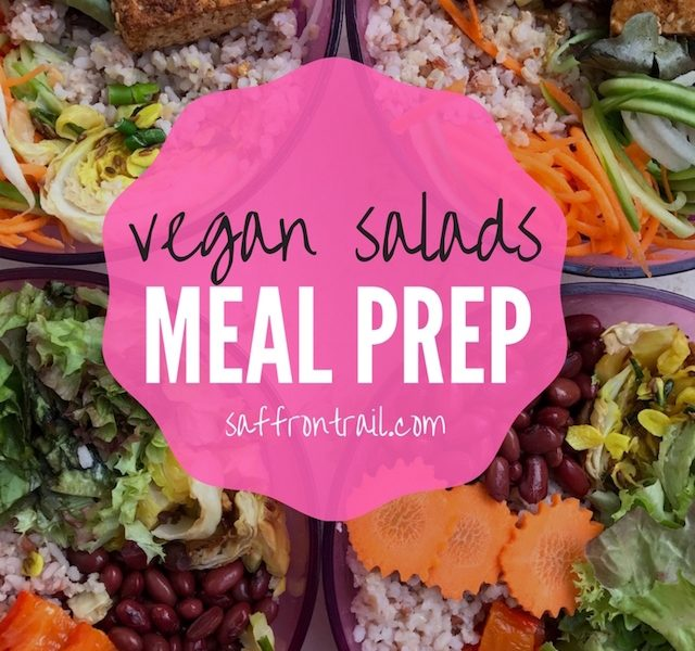 meal prep ideas vegan salads