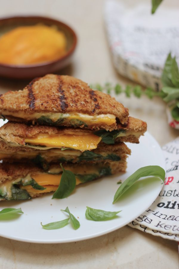 Mango Basil Grilled Cheese Sandwich