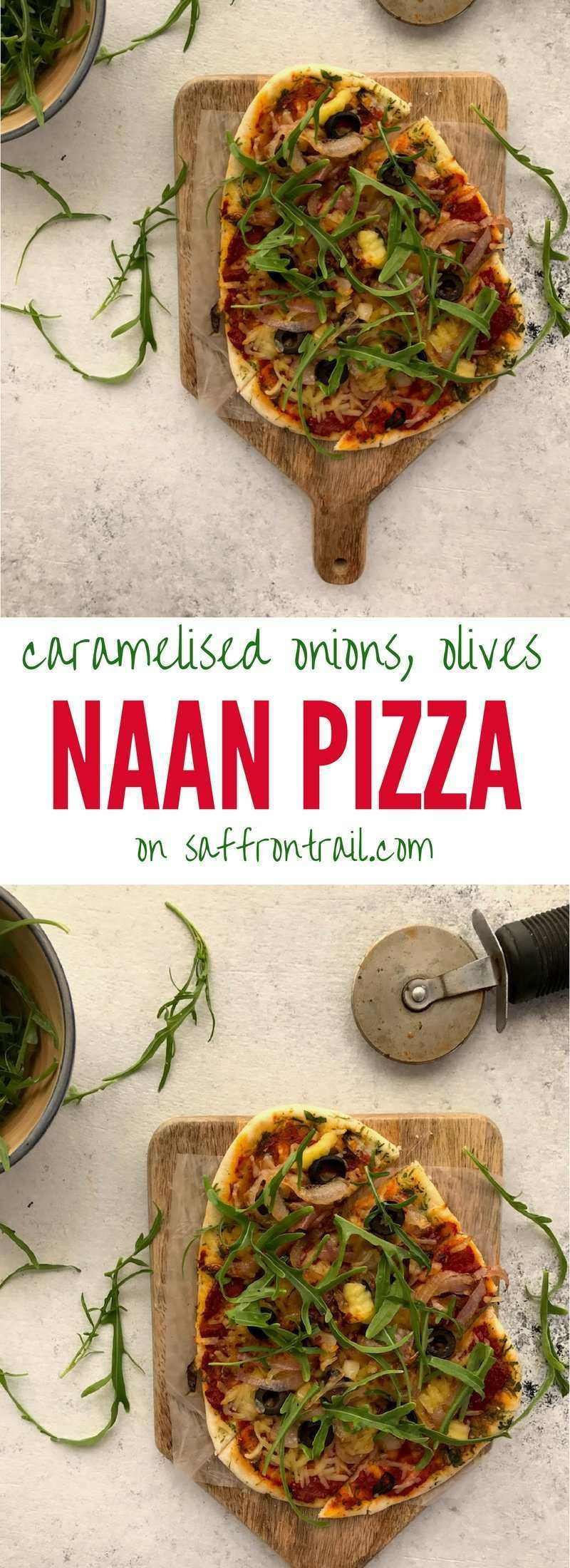 Recipe for an easy Naan Pizza that you can prepare as an after school snack for kids or even a quick weeknight dinner + a recipe for instant pizza sauce!