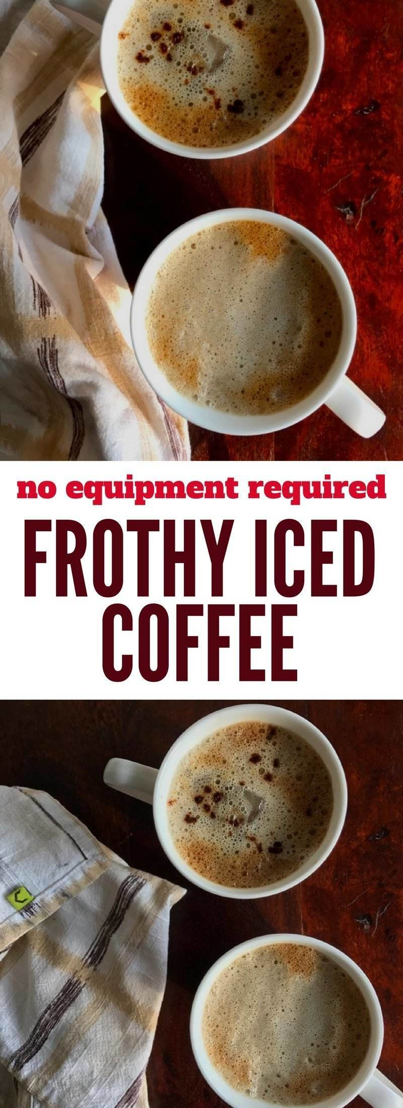 No equipment required to make this ultimate frothy iced coffee, prepared using instant coffee granules.