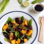 Beet and Mango Salad with a zero-oil dressing