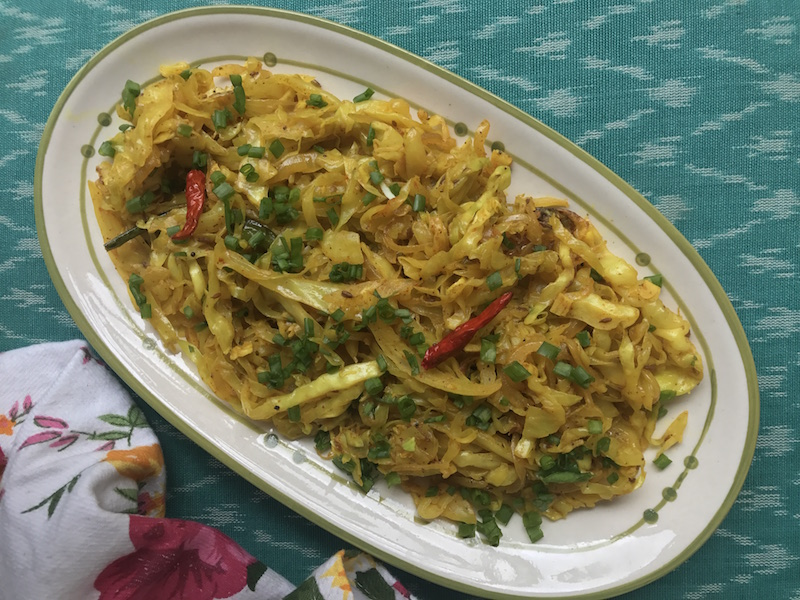 cabbage sabzi