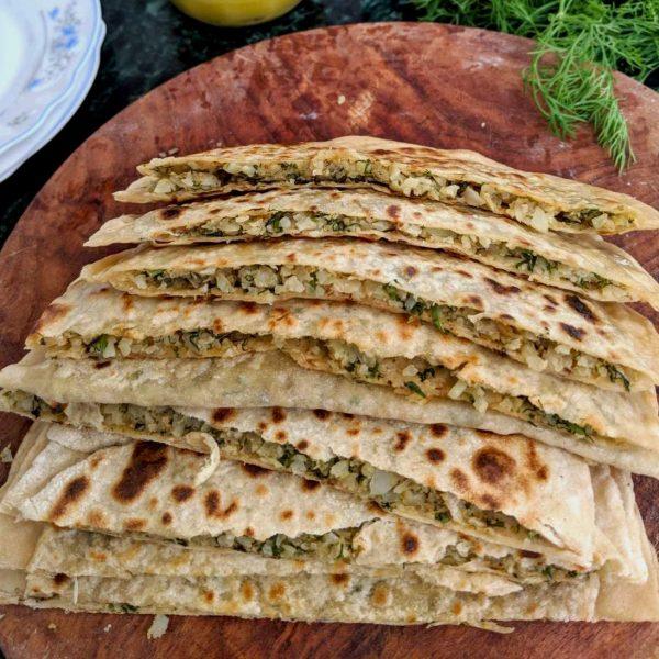cauliflower parathas
