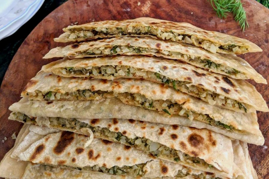 cauliflower parathas