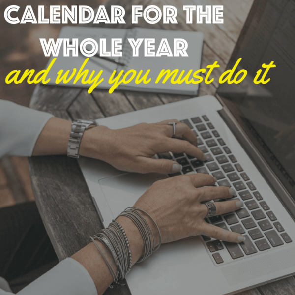 Create an editorial calendar for your food blog
