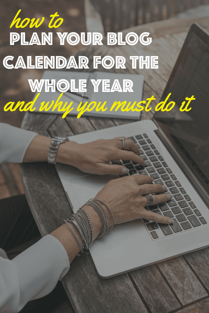 Create an editorial calendar for your food blog