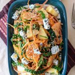 Winter Persimmon Salad with Kale, Apple and Carrot