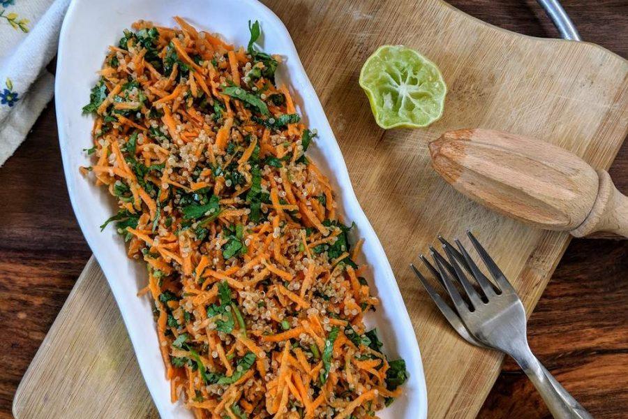 carrot coriander quinoa salad