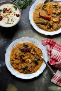 Indian Quinoa Recipe | Quinoa Sambar Sadham | Vegan Quinoa and Lentil Stew