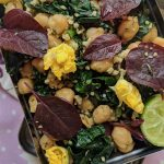 Healthy Lunch Salad – Chickpeas, Kale and Millet {vegan and gluten free}