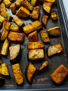 Super Easy Sheet Pan Eggplant – Vegan & Gluten Free