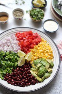 Rainbow Mexican Salad Platter