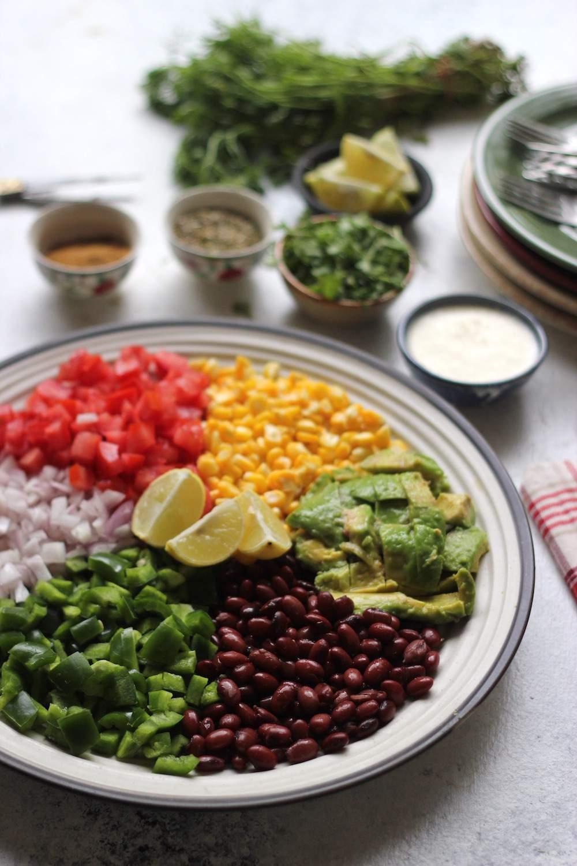 mexican salad platter
