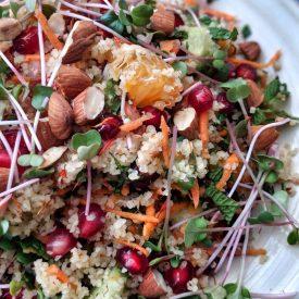 rainbow vegan bulgur salad