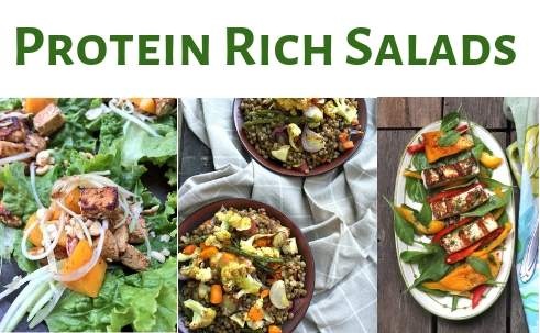 vegetarian protein rich salads