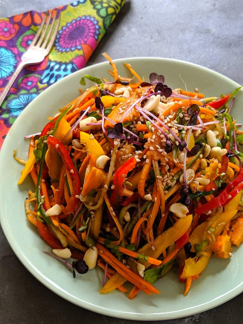 Rainbow Salad – Asian Style and Vegan