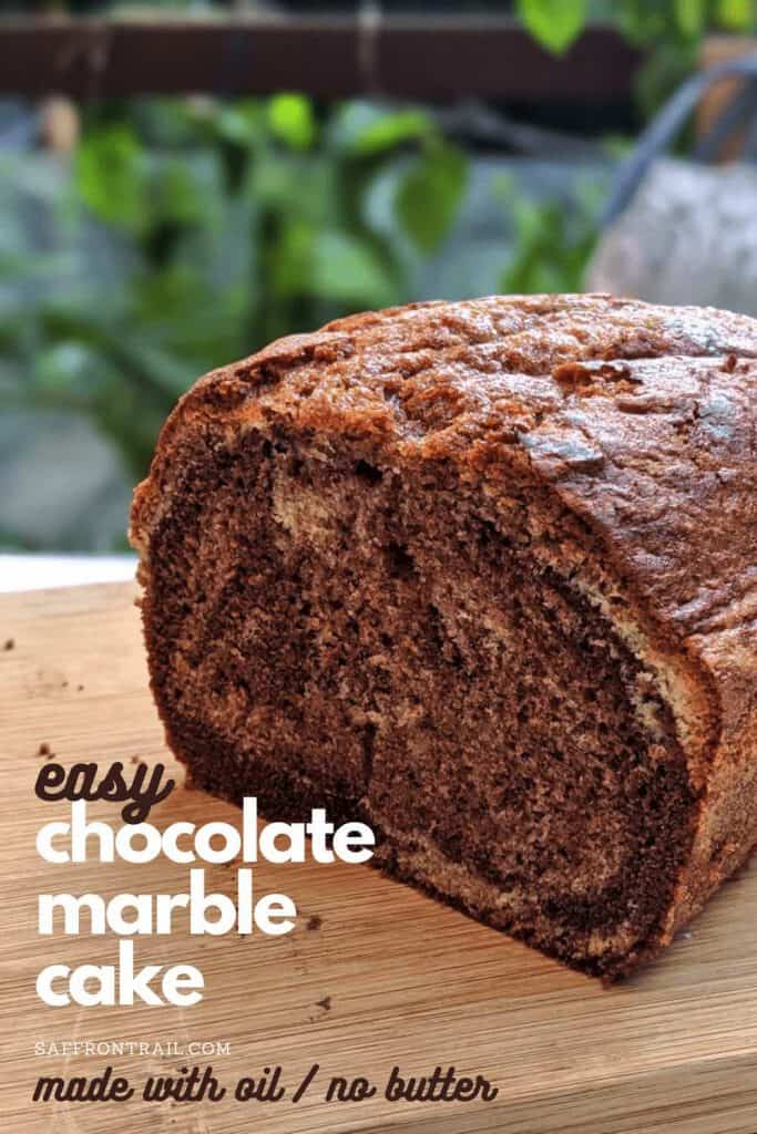 easy marble cake with oil