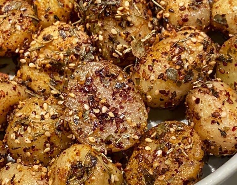pan roasted baby potatoes