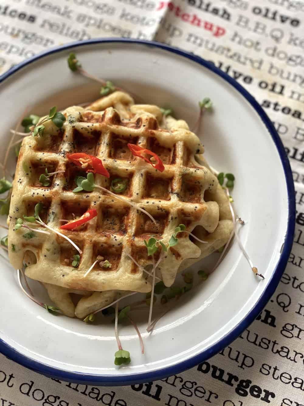 savoury waffles