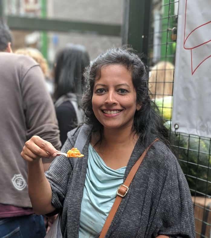 tasting food at the Borough Market